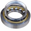 Angular contact bearing with separable outer rings