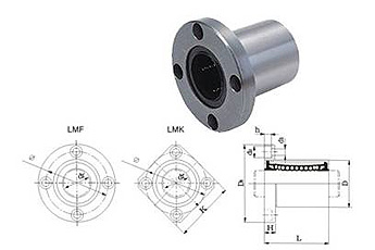 flange linear motion ball bearings