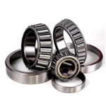 Tapered roller bearings with large contact angle