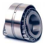 Tapered roller bearing with flanged outer rings